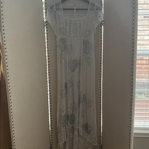 Rare Free People sequin beaded gown